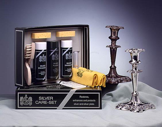 12 silver care kandelaars