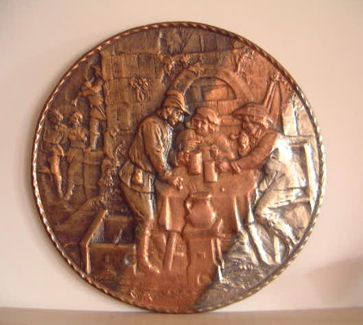 Large Copper-clean-silver plaque
