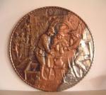 Large Copper-clean-silver plaque